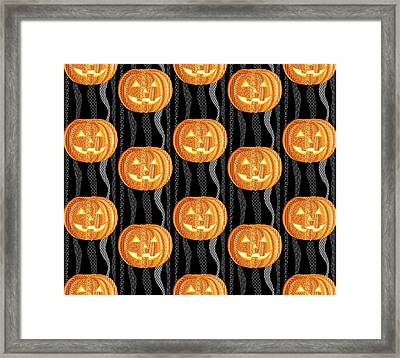 Halloween Pattern Framed Print by Veronica Kusjen