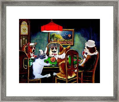 Halloween Poker Framed Print by Ron Chambers