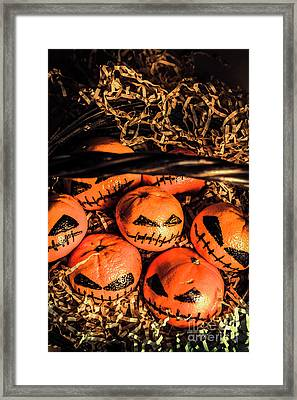 Halloween Pumpkin Head Gathering Framed Print by Jorgo Photography - Wall Art Gallery