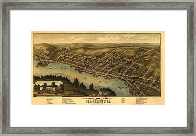 Hallowell Maine 1878 Framed Print by Mountain Dreams