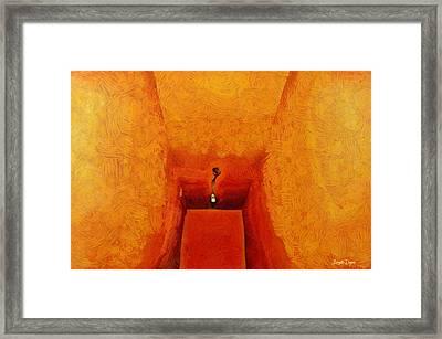 Hallway - Da Framed Print by Leonardo Digenio