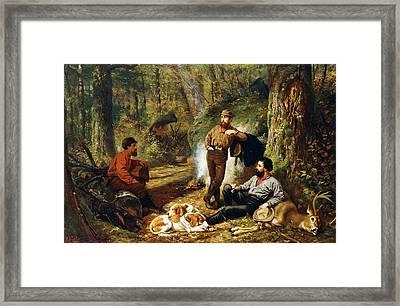 Halt On The Portage Framed Print by Arthur Fitzwilliam Tait