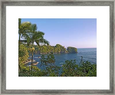 Hamakua Coast On The Big Island Hawaii Framed Print by Brendan Reals