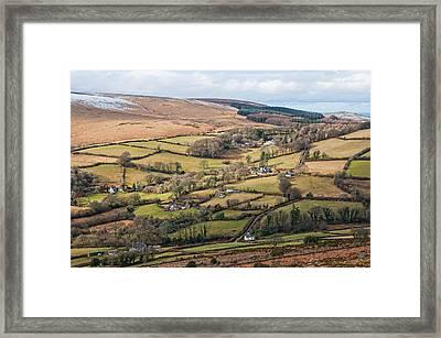 Hamel Down From Honeybag Tor Framed Print by Pete Hemington