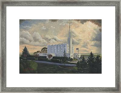 Hamilton New Zealand Temple Framed Print by Jeff Brimley