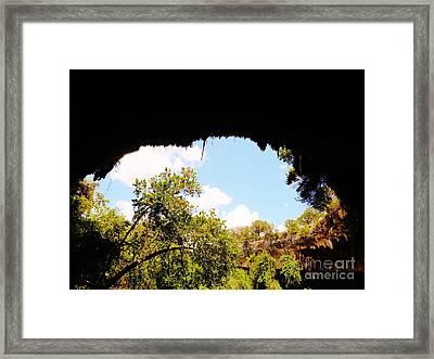 Hamilton Pool, Near Austin Framed Print by Chuck Taylor
