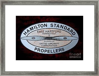 Hamilton Standard East Hartford Framed Print by Olivier Le Queinec