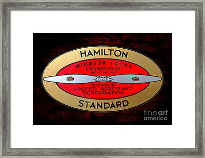 Hamilton Standard Windsor Locks Framed Print by Olivier Le Queinec