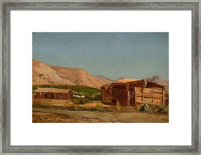 Hamilton's Ranch Nevada  Framed Print by Celestial Images