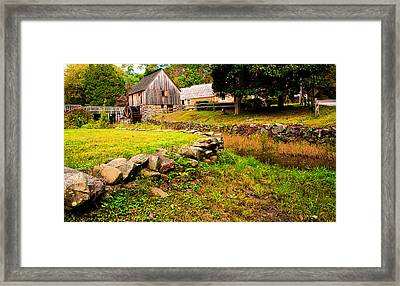 Hammond Gristmill Rhode Island - Colored Version Framed Print by Lourry Legarde