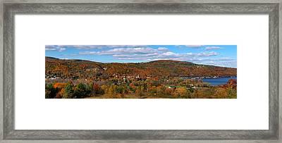 Hammondsport Panorama Framed Print by Joshua House