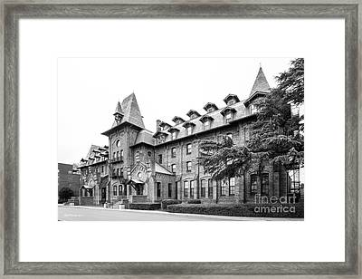 Hampton University Virginia- Cleveland Hall Framed Print by University Icons