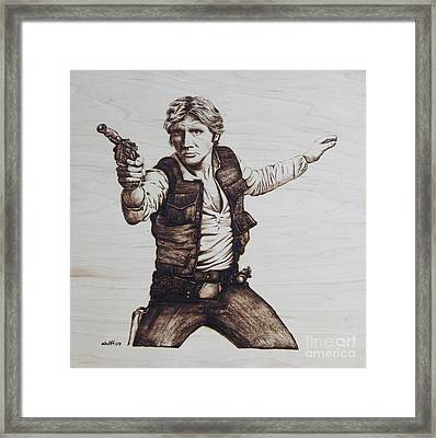 Han Solo Framed Print by Chris Wulff