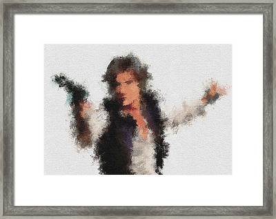Han Solo Framed Print by Miranda Sether