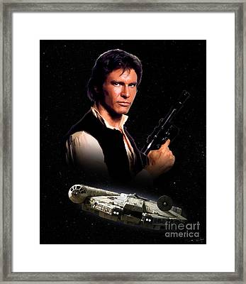 Han Solo Framed Print by Paul Tagliamonte