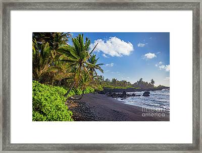 Hana Bay Palms Framed Print by Inge Johnsson