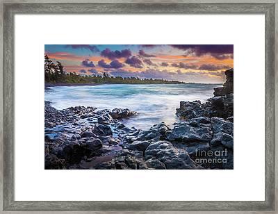 Hana Bay Rocky Shore #1 Framed Print by Inge Johnsson