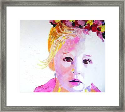 Hanna Framed Print by Jolanta Shiloni