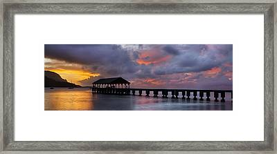 Hanalei Pier II Framed Print by Sun Gallery Photography Lewis Carlyle