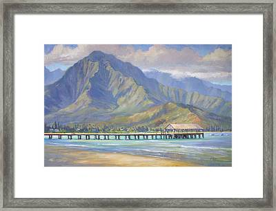 Hanalei Pier Framed Print by Jenifer Prince