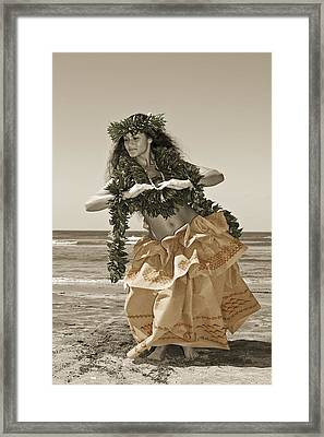 Hand Colored Hula Framed Print by Himani - Printscapes
