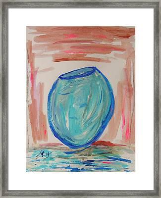Hand Thrown Framed Print by Mary Carol Williams