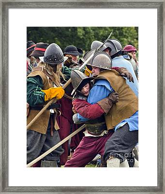 Hand To Hand Combat Framed Print by Linsey Williams