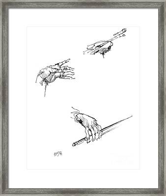 Hands Of A Violin Player Framed Print by Paul Miller