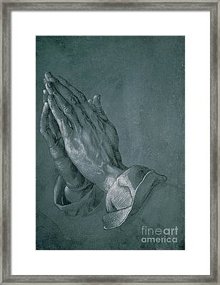 Hands Of An Apostle Framed Print by Albrecht Durer