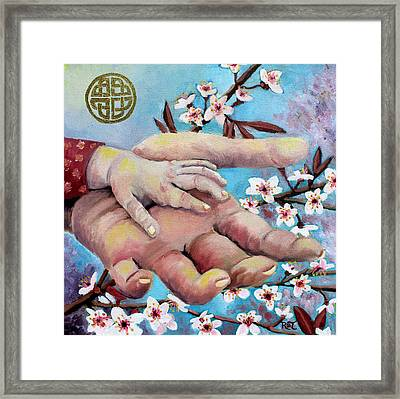 Hands Of Love Framed Print by Renee Thompson