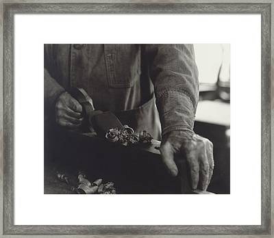 Hands Of Shaker Brother Ricardo Belden Framed Print by Everett