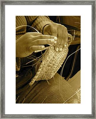 Hands Of Time - Sepia Framed Print by Staci-Jill Burnley