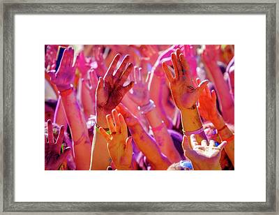 Hands Up-2 Framed Print by Okan YILMAZ