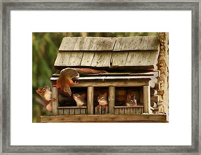 Hanging Around The House Framed Print by Lori Deiter