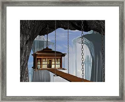 Hanging House Framed Print by Cynthia Decker