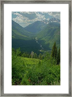 Hanging Valley Framed Print by Constance Puttkemery
