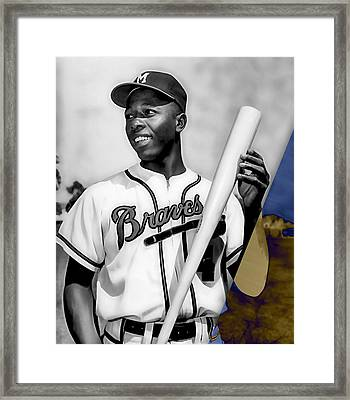Hank Aaron Framed Print by Marvin Blaine