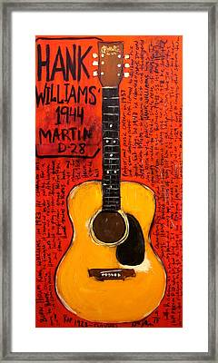 Hank Williams 1944 Martin D28 Framed Print by Karl Haglund