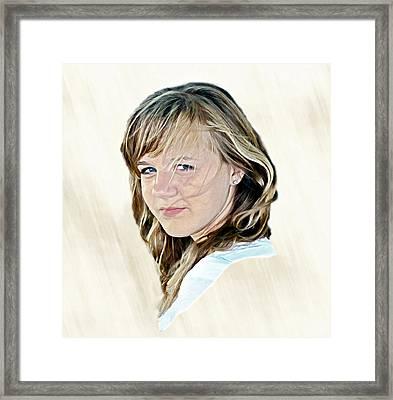 Hannah Portrait Framed Print by Randy Steele