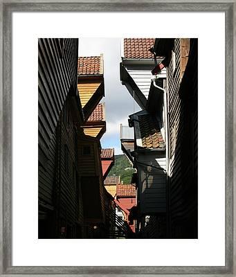 Hanseatic Gables  Framed Print by Helene Sobol