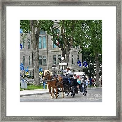 Hansom Cab Tour Framed Print by John Malone