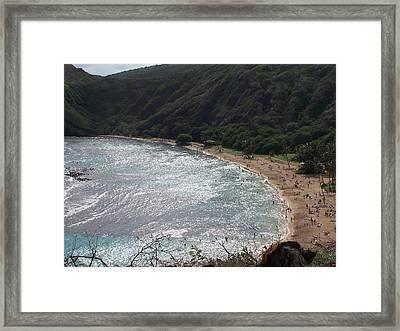 Hanuma Bay Honolulu Framed Print by Vijay Sharon Govender