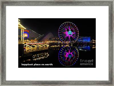 Happiest Place On Earth Framed Print by Peter Dang