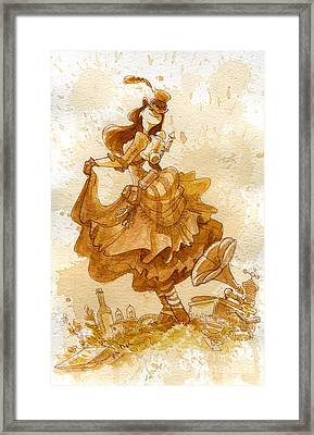 Happiness Framed Print by Brian Kesinger