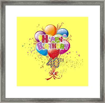 Happy 40th Birthday Framed Print by D Miller