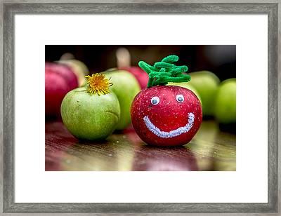 Happy Apples Framed Print by John Haldane