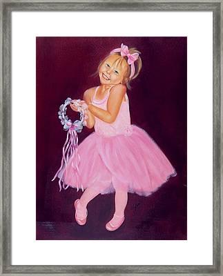 Happy Ballerina Framed Print by Joni McPherson
