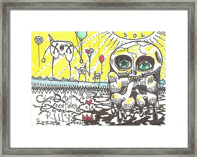 Happy Belated Birthday Framed Print by Robert Wolverton Jr