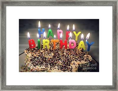 Happy Birthday Candles Framed Print by Carlos Caetano