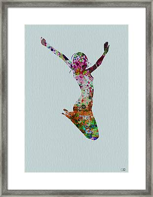Happy Dance Framed Print by Naxart Studio